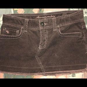 Abercrombie & Fitch Mini Corduroy Skirt
